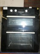 Hotpoint Fully Integrated Double Electric Oven in Black with Fan Assisted Bottom Oven and Digital