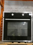 Natural Gas Fully Integrated Stainless Steel and Black Oven
