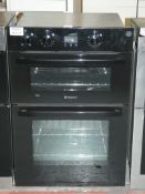 Hotpoint Black Fully Integrated Double Electric Oven with Fan Assisted Bottom Oven