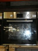 UBEMS611 Stainless Steel and Black Fully Integrated Single Electric Oven