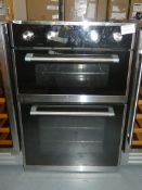 Twin Cavity Fully Integrated Stainless Steel and Black UBNFTC93.1 Fan Assisted Electric Oven
