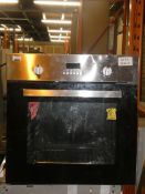 UBETTD60SS Stainless Steel and Black Fully Integrated Single Electric Oven