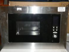 Boxed Stainless Steel and Black Fully Integrated Digital Display Microwave