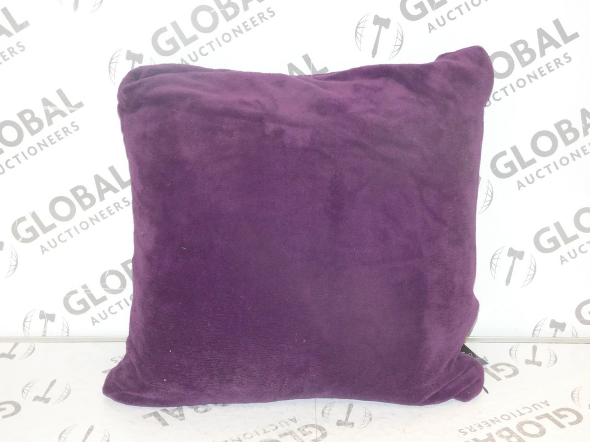 Lot 46 - Lot to Contain 2 Living By Cascade Home Purple Square Scatter Cushions Combined RRP £40 (