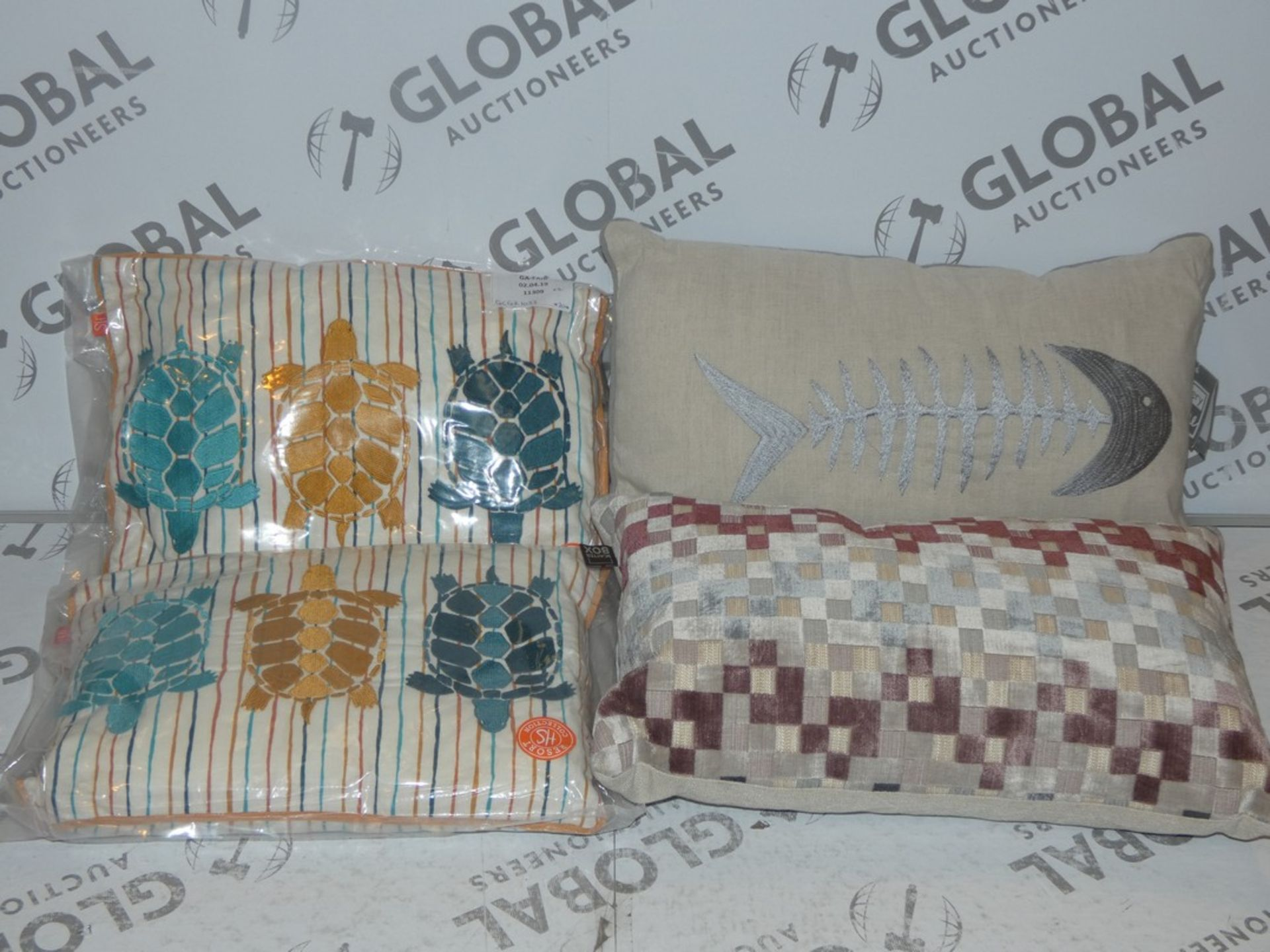 Lot 11 - Lot to Contain 4 Assorted Scatterbox Designer Scatter Cushions and Gallery Home Designer Scatter