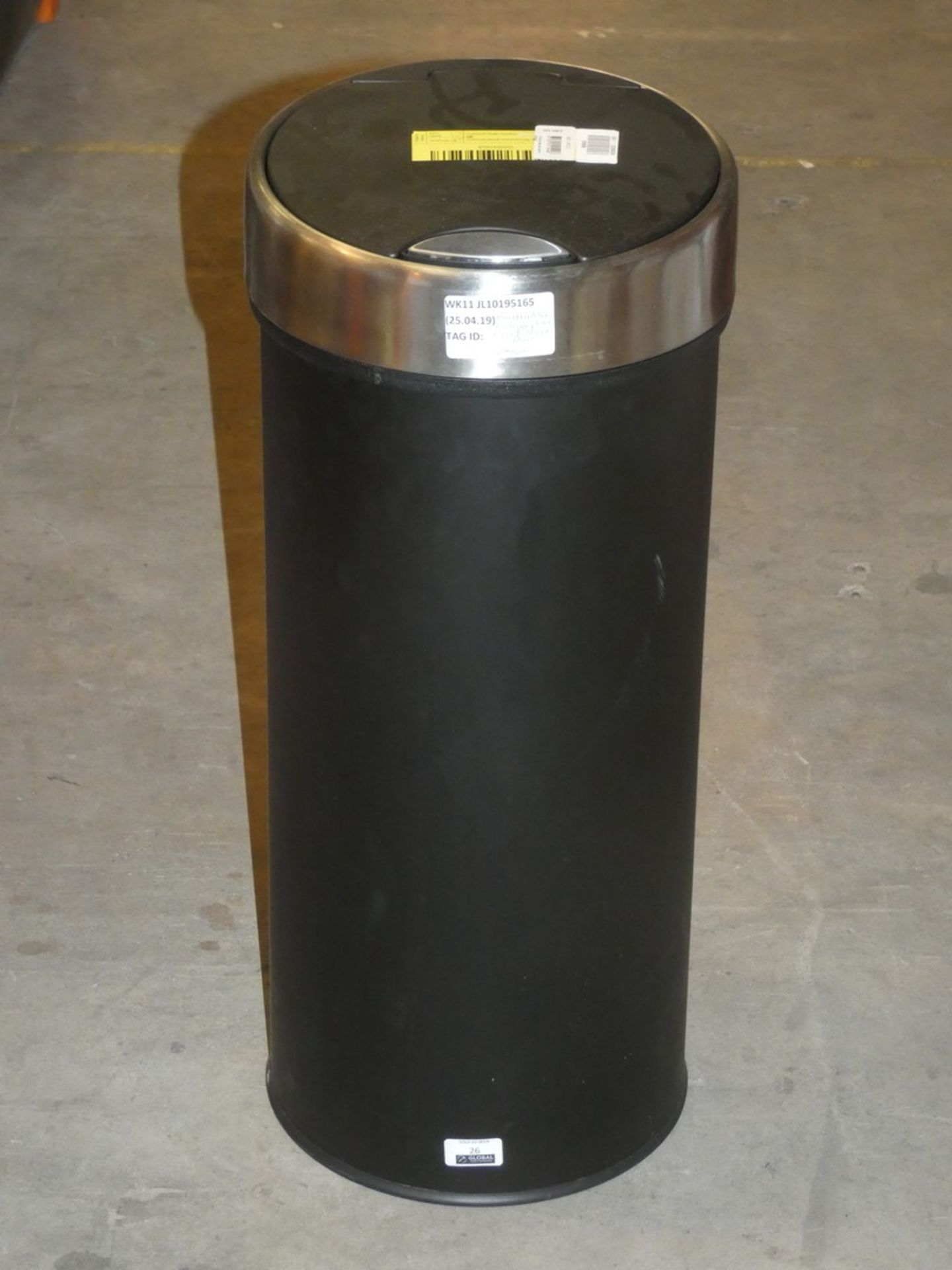 Lot 26 - Brabantia Finger Print Proof Black 30L Pedal Bin RRP £80