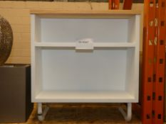 House White and Light Oak Shelving Unit RRP £60
