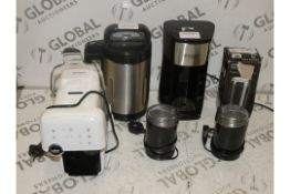 Assorted Items to Include Russell Hobbs Coffee Makers, AEG Capsule Coffee Makers, Burr Coffee