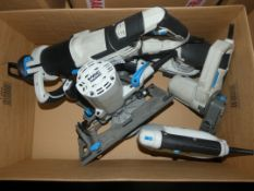 Assorted Uncorded Power Tools to Include McAllistair Jigsaws, Sanders, Circular Saws and Saws (