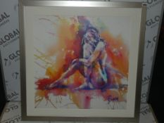 Joanna Thomas Multi Coloured Figure Study 1 Wall Art Picture