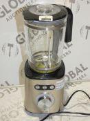 John Lewis And Partners Brushed Stainless Steel Glass Jug Blender RRP £60 (RET00596541) (Viewings