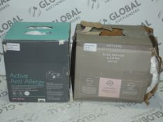 Lot to Contain 2 Boxed Assorted John Lewis And Partners Active Anti Allergy Duvets And Natural