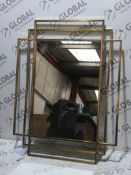 Boxed Shanghai 66x92cm Designer Wall Hanging Mirror RRP£250.0 (2070237)(In Need Of Attention)(