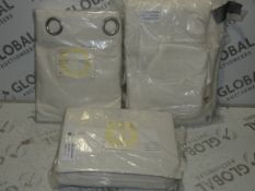 Lot to Contain 3 Bagged Assorted Pairs Of John Lewis And Partners House Designer Eyelet Headed