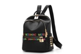 Brand New Ladies Cool Live Colourful Moschino Style Small Backpack RRP £55
