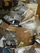 Pallet to Contain a Large Amount of Items to Include Salter Scales, Bathroom Accessories, Pedal