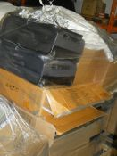 Pallet to Contain a Large Amount of John Lewis Items to Include Pillows, Suitcases, Lights, Bath