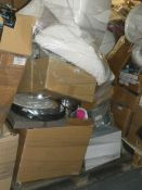 Pallet to Contain a Large Amount of John Lewis Items to Include Lampshades, Serving Trays,