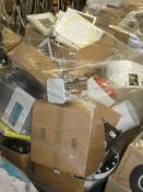 Pallet to Contain a Large Amount of John Lewis Stock to Include Pedal Bins, Water Bottles,