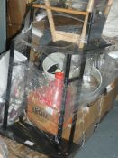Pallet to Contain a Large Amount of John Lewis Items to Include Bedding, Fans, Table Lamps,