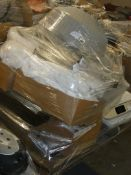 Pallet to Contain a Large Amount of Bedding Items to Include, Towels, Sheets, Duvets, Roller Blinds,