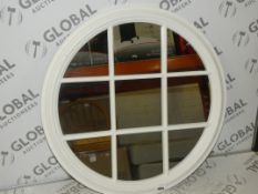 Croft White Window Rounded Mirror RRP £110 (Viewing or Appraisals Highly Recommended)
