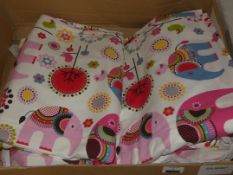 Pair of Childrens Printed Top Design Quality Curtains RRP £75 (Viewing or Appraisals Highly