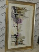 1112 x 72cm Cambridge Spires Wall Art By Richard McNeil RRP £180 (Viewing or Appraisals Highly