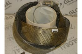 Afia Ceiling Pendant Antique Brass Finish Shade RRP £120 (RET0024243) (Viewing or Appraisals