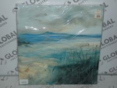 Seagrass Grey Framed Canvas By Leslie Birch RRP £55 (Viewing or Appraisals Highly Recommended)