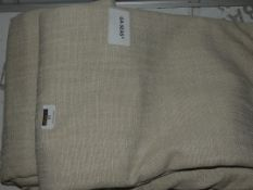 Pair of Beige Designer Pencil Pleat Curtains RRP £150 (Viewing or Appraisals Highly Recommended)
