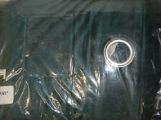 Pair of Navy Velvet Lustre Curtains 167 x 223cm (Viewing or Appraisals Highly Recommended)