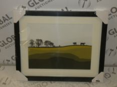 Cows at Lochemes Framed Canvas Wall Art RRP £65 (Viewing or Appraisals Highly Recommended)