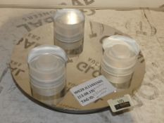 Presta Stainless Steel And Glass 3 Light Ceiling Light Fitting RRP £110 (2320174) (Viewings And