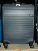 Lot to Contain 2 Qube Colinear 4 Wheel Spinner Suitcases In Grey RRP £40 Each (2334057) (2333090) (