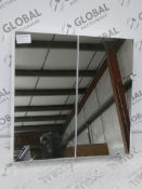 Boxed John Lewis And Partners Double Door White Mirrored Bathroom Cabinet RRP £120 (2338838) (