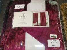 Pair Of Paoletti Ready Made Ring Top Curtains In Velvet Purple (Viewings And Appraisals Are Highly