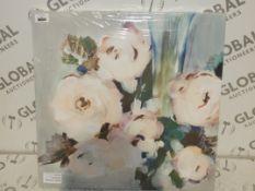 Pale Pink Bouquet One By Artist Valeria Merrivan 60X60CM Canvas Wall Art Picture RRP£60.0(
