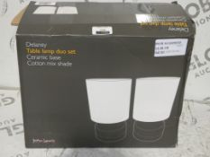 Boxed John Lewis And Partners Delaney Duo Touch Control Lamps RRP £65 (2307595) (Viewings And