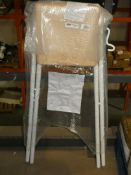 John Lewis And Partners Fiam White And Beach Folding Bar Stool RRP £50 (2338885) (Viewings And