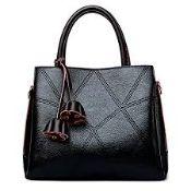Brand New Womens Coolives Black Leather Handbag RRP £44.99