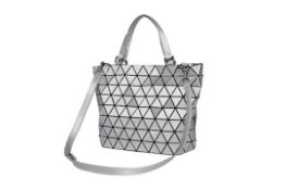 Brand New Womens Coolives Gradient Tote Bag in Silver Grey RRP £44.99