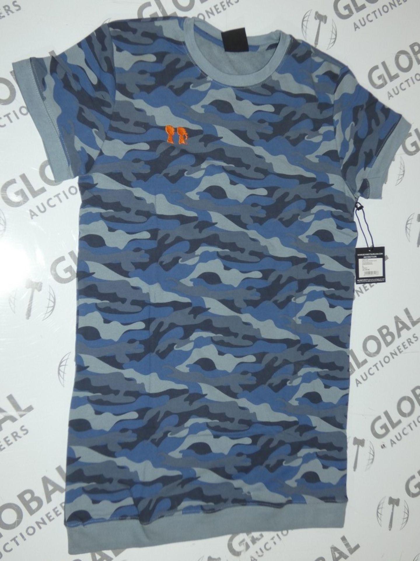 Lot 178 - Brand New Boy Meets Girl Blue Camo Oversized T-Shirts RRP £45 Each