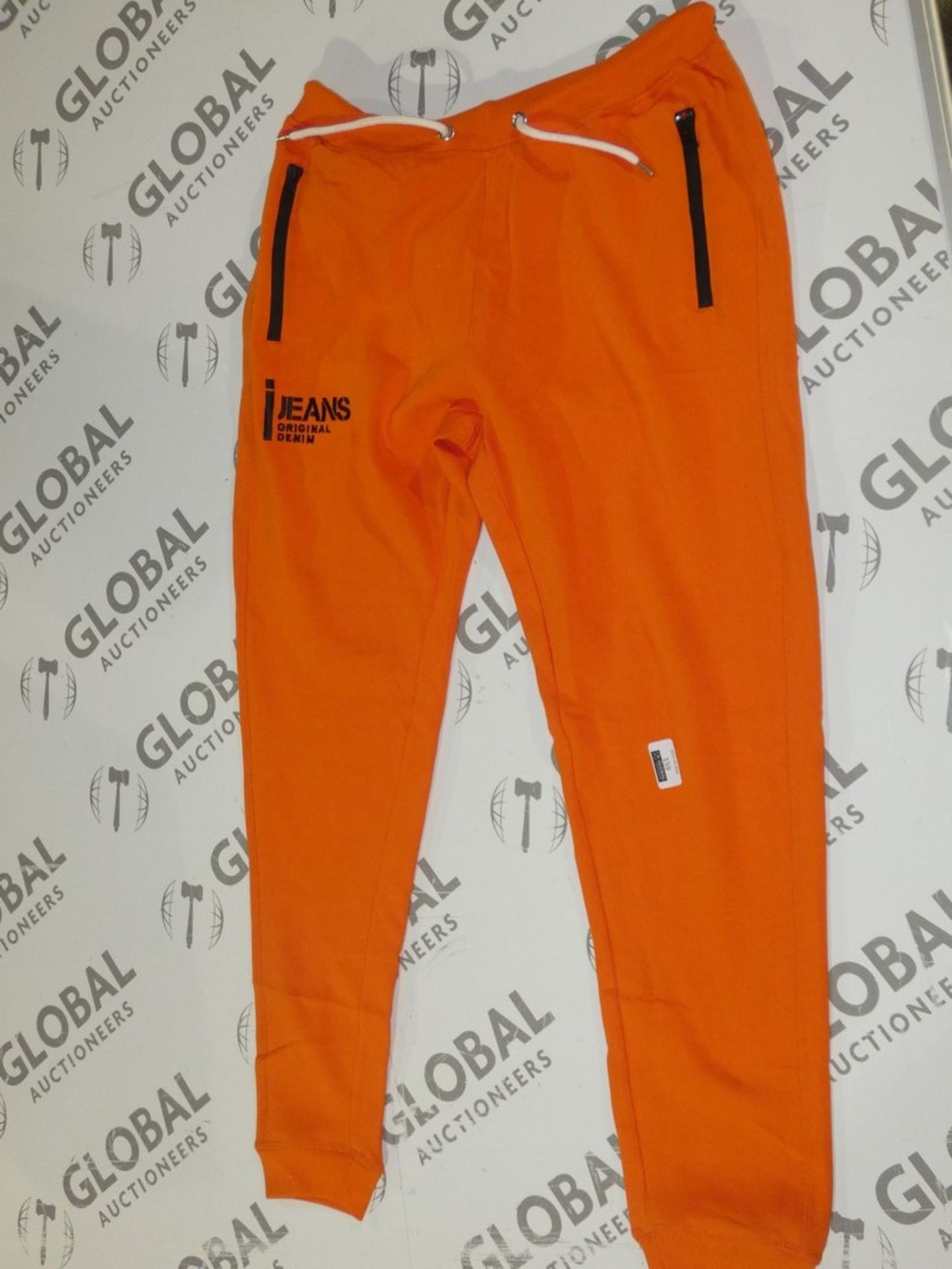 Lot 163 - Assorted Brand New Pairs Of Ijeans Original Denim Orange Lounging Pants In Assorted Sizes RRP £25
