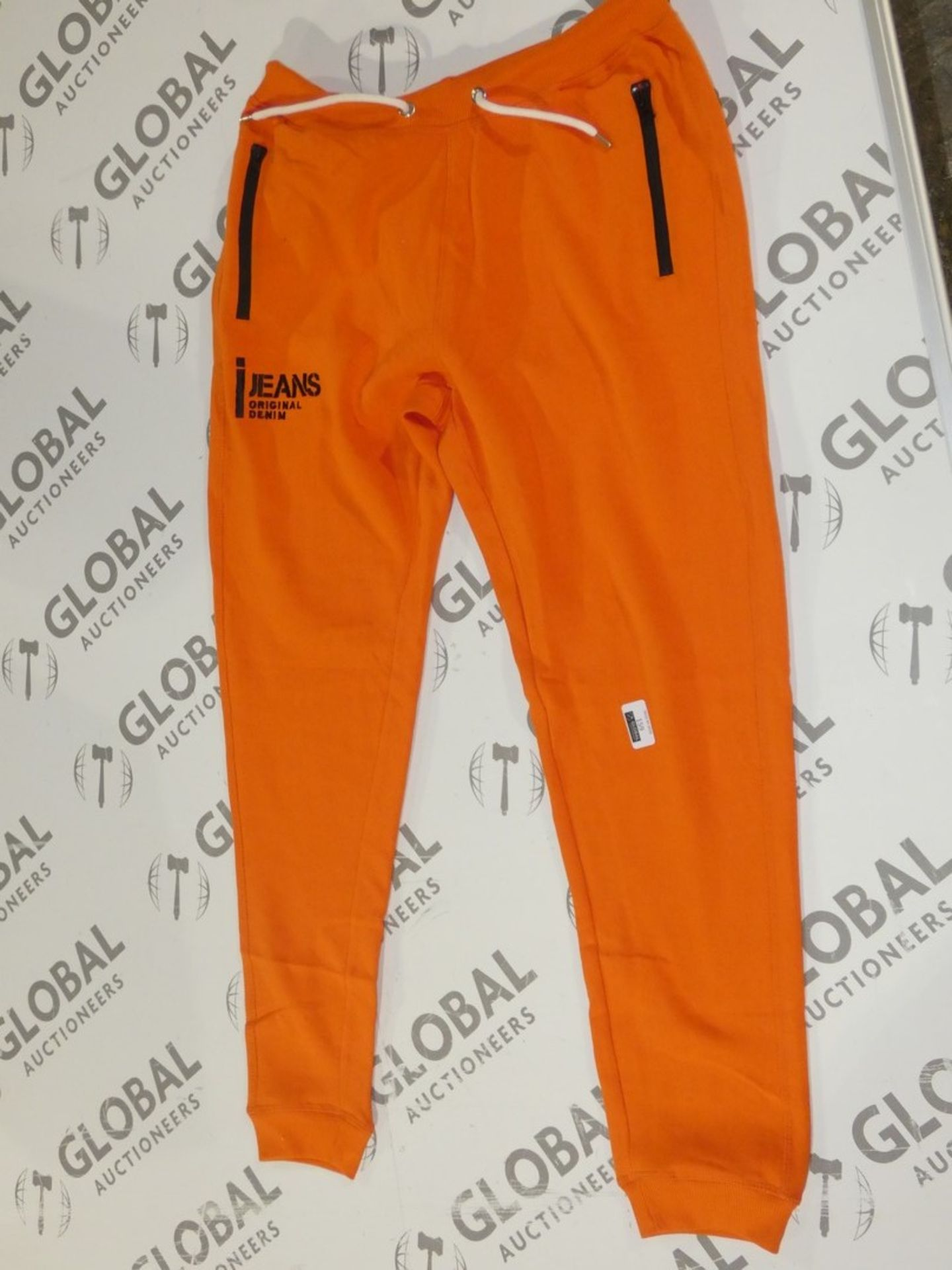 Lot 159 - Assorted Brand New Pairs Of Ijeans Original Denim Orange Lounging Pants In Assorted Sizes RRP £25
