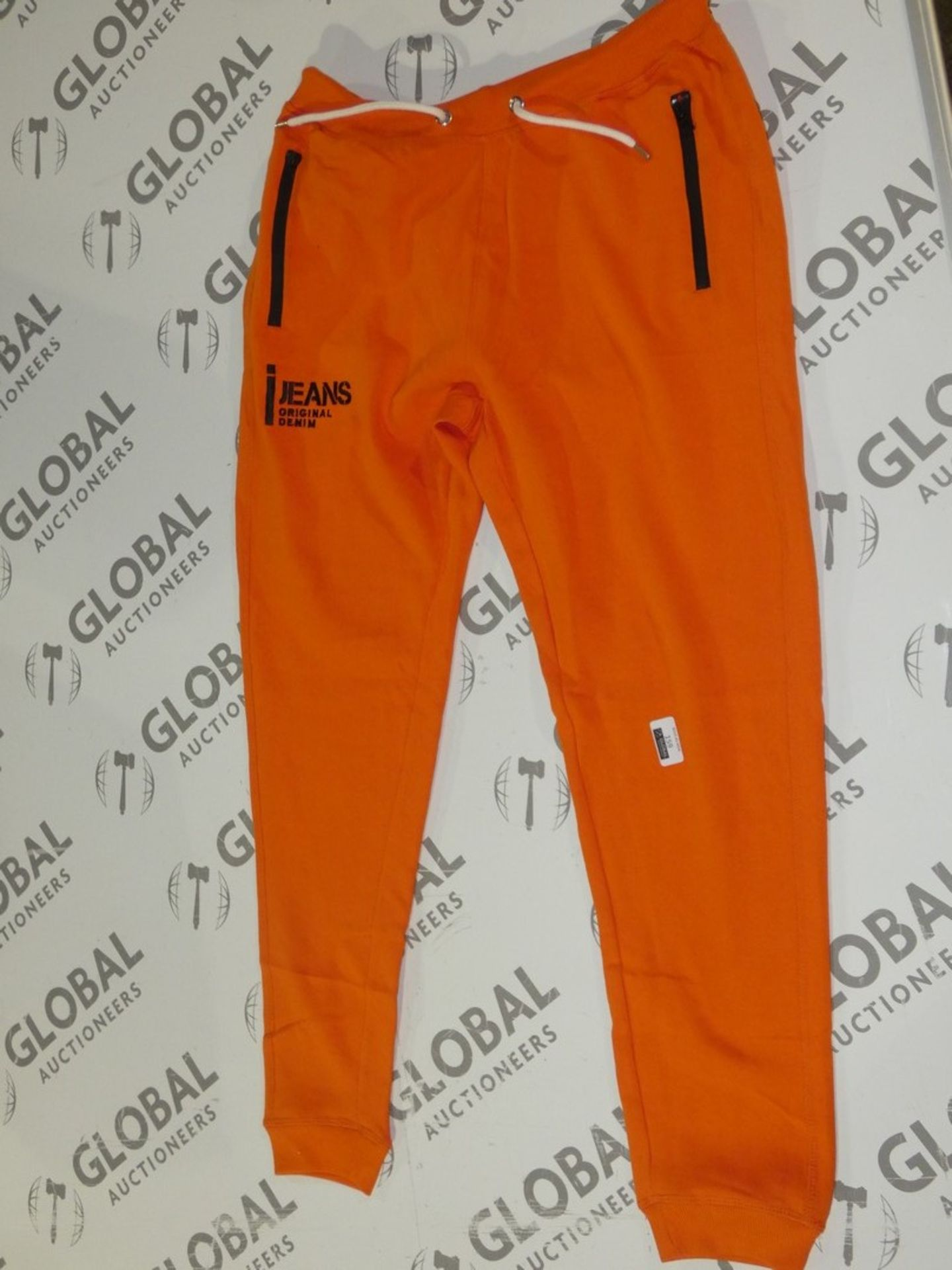 Lot 160 - Assorted Brand New Pairs Of Ijeans Original Denim Orange Lounging Pants In Assorted Sizes RRP £25