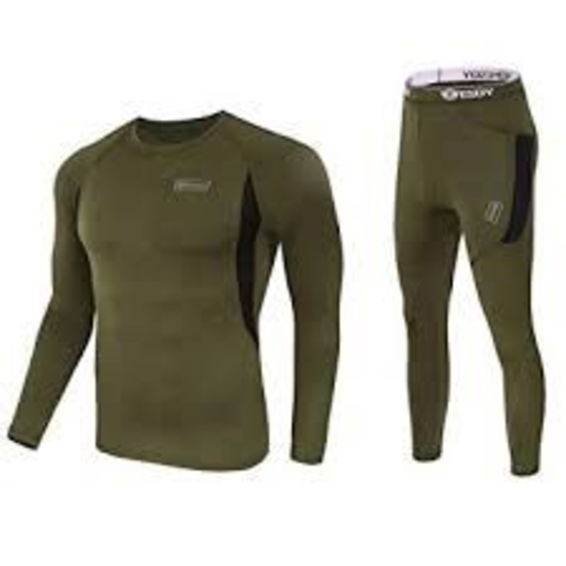 Lot 909 - Brand New ESDY Black and Khaki Thermal Gents Under Garments