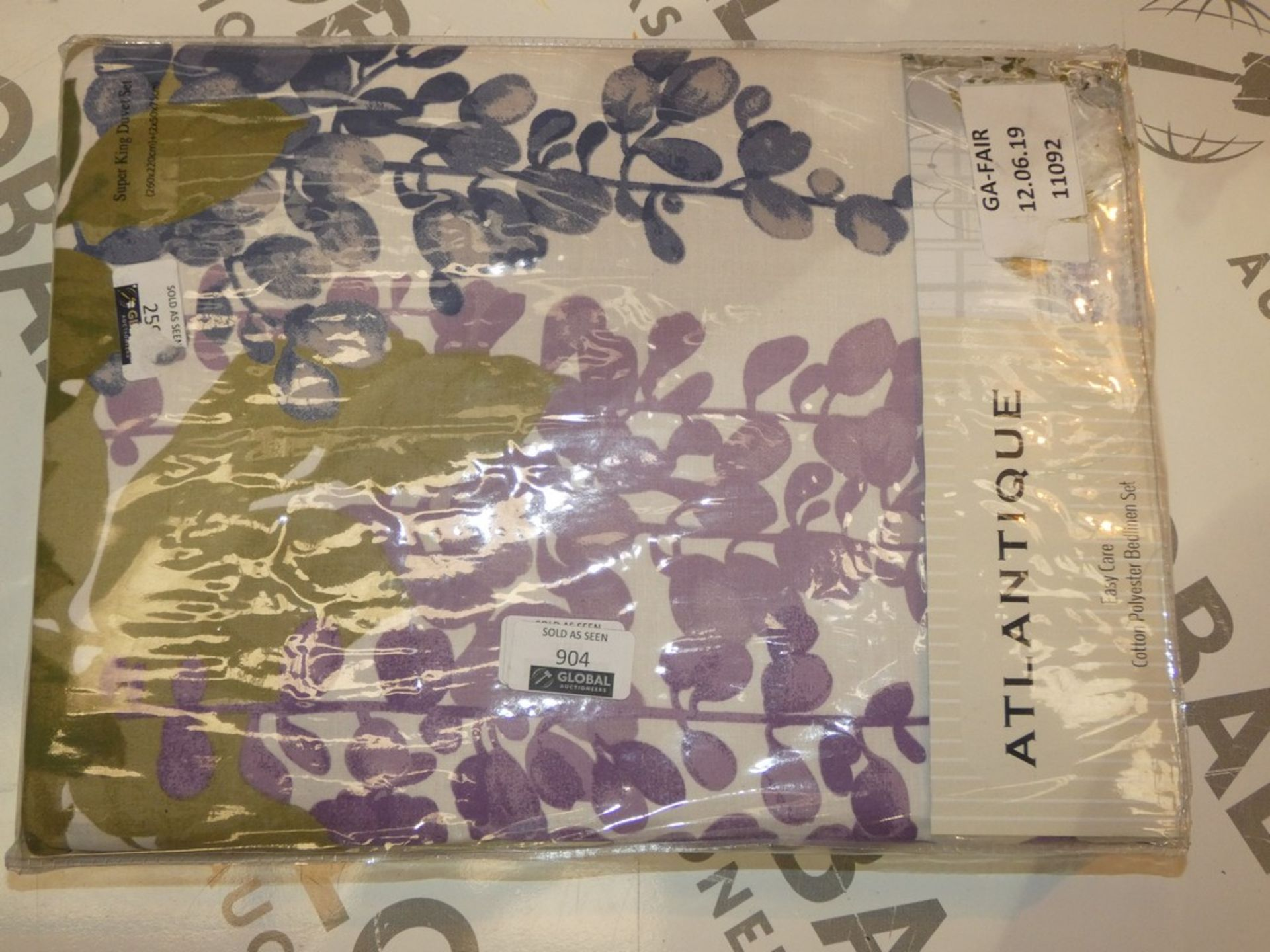 Lot 904 - Bagged Brand New Atlantique Cotton Polyester Floral Print Bed Linen Set RRP £50 (11092) (Public