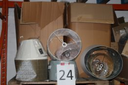 Pallet to Contain a Large Amount of John Lewis Designer Lampshades Combined RRP £500