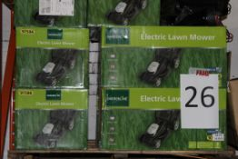 Pallet to Contain 8 Gardenline Electric Lawn Mowers Combined RRP £400
